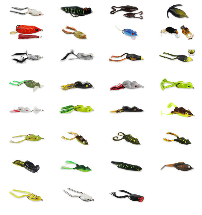 to fish artificial frogs, toads and soft baits, Soft Baits