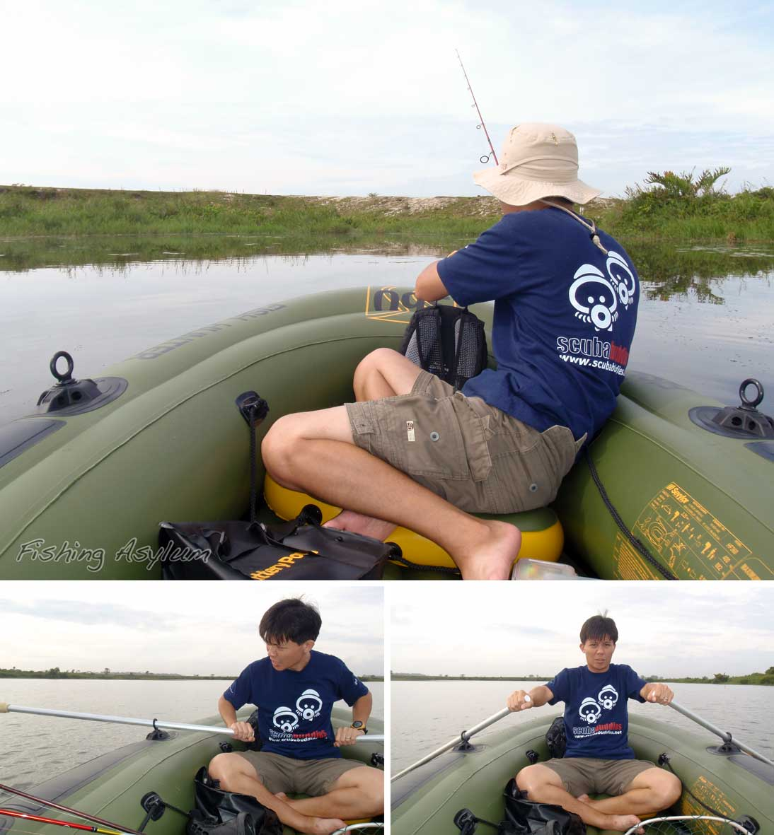 Sevylor fish hunter inflatable fishing boat for Fish hunter raft
