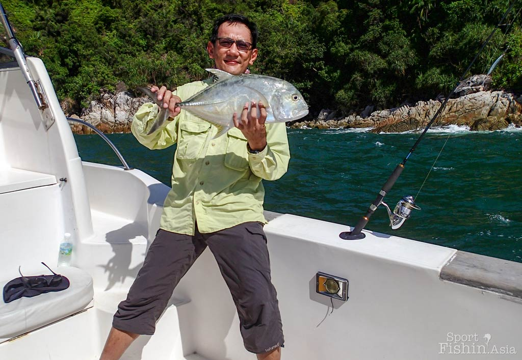 JW and a not-so-big giant trevally from the Malacca Straits