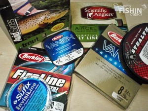 Berkley Fireline Crystal, Vanish Transition fishing lines, leaders, Rio, Scientific Anglers Fly Lines