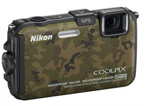 camouflage nikon aw100 waterproof camera