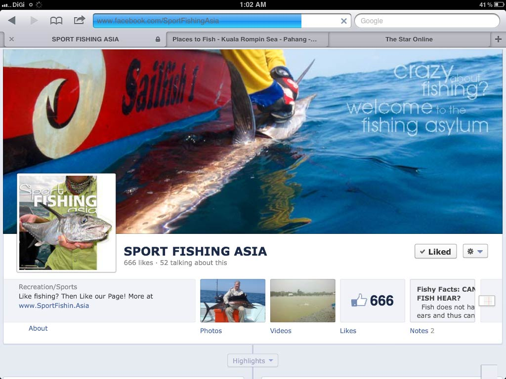 Fishing in Facebook and our 666 fans!