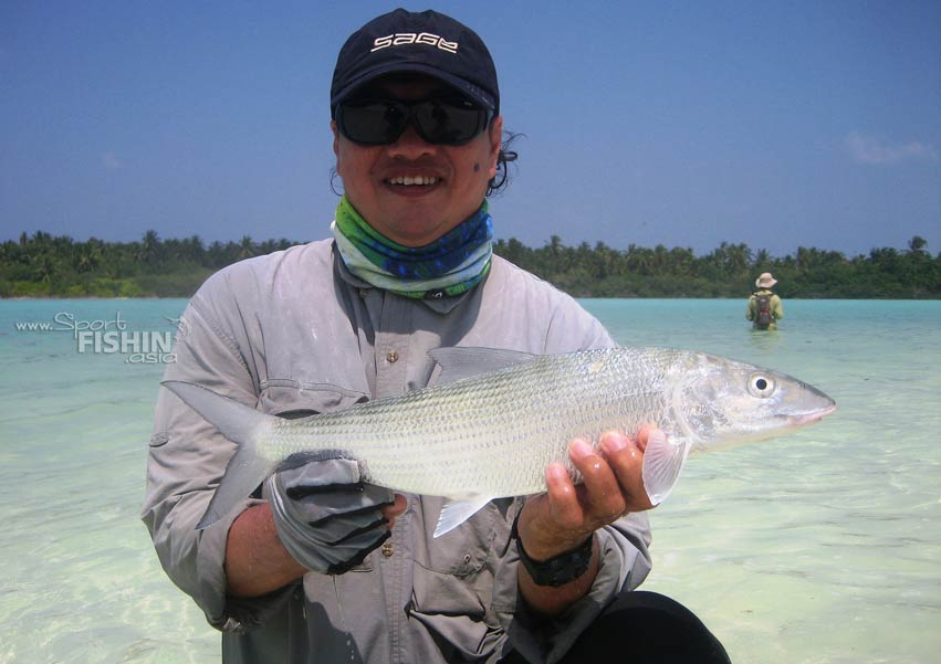 Beautiful bonefish - beautiful backdrop - with Nick