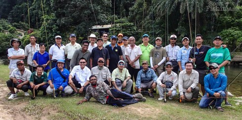 Participants of the first Sabah Borneo Fly-Fishing Conclave at Babagon