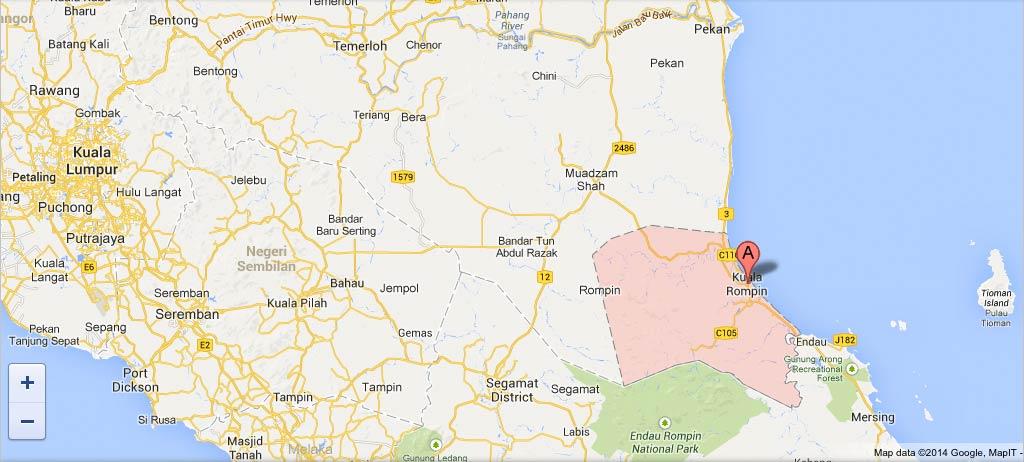 Kuala Rompin Malaysia  City new picture : Kuala Rompin Kuala Lumpur tioman map