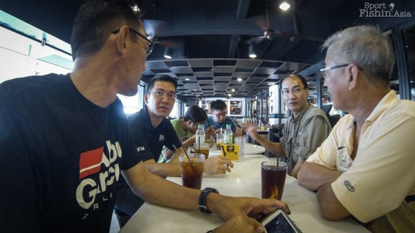 Lunch, also with with Rod and Line editor, CS Fong. Good to catch-up with him again.