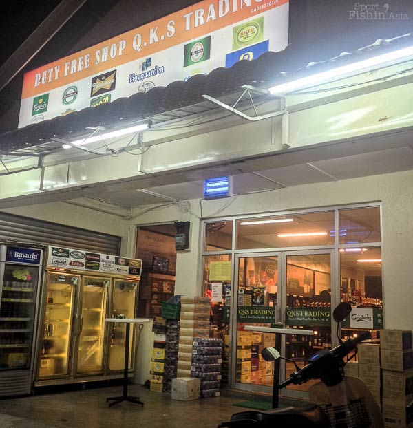 Beer lovers, rejoice! One of the duty-free shops in Tioman island