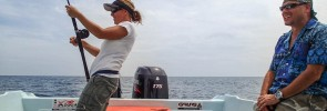 Video of Kim and her Kuala Rompin sailfish with the Penn Fathom plus Abu Garcia Salty Stage