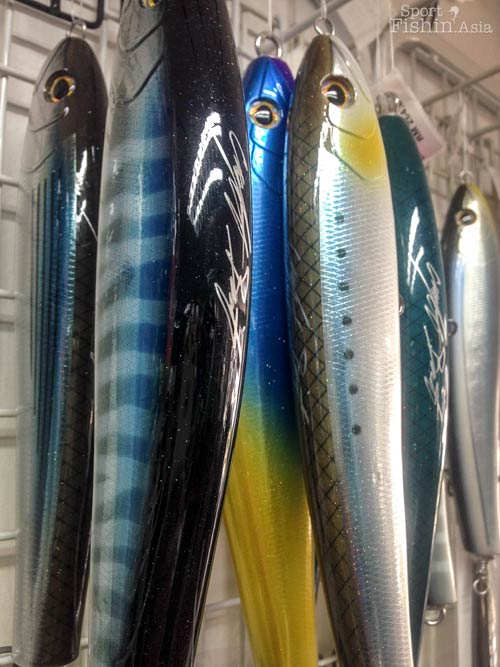 Big-game hand-crafted lures are also available