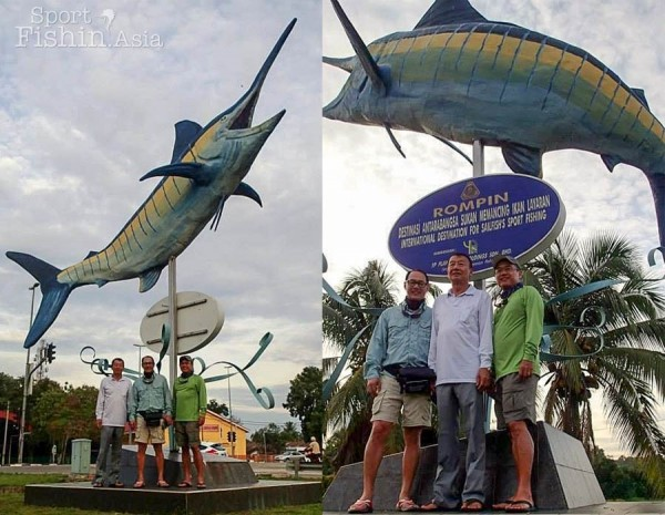 That marlin-should-be-sailfish statue again. Some say, it will grant you a good catch if you rub it. Haha.