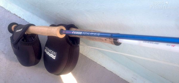 Saul's choice of rod is a Guideline 12wt paired to a Lamson reel