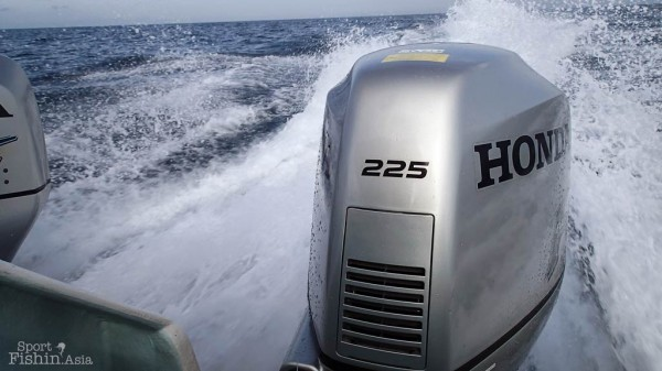 Powerful twin motors are advantages to getting to where you want to fish quickly and outrunning bad weather when the need arises