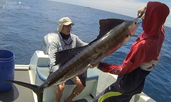 Michael's first ever sailfish was a hard-fought one