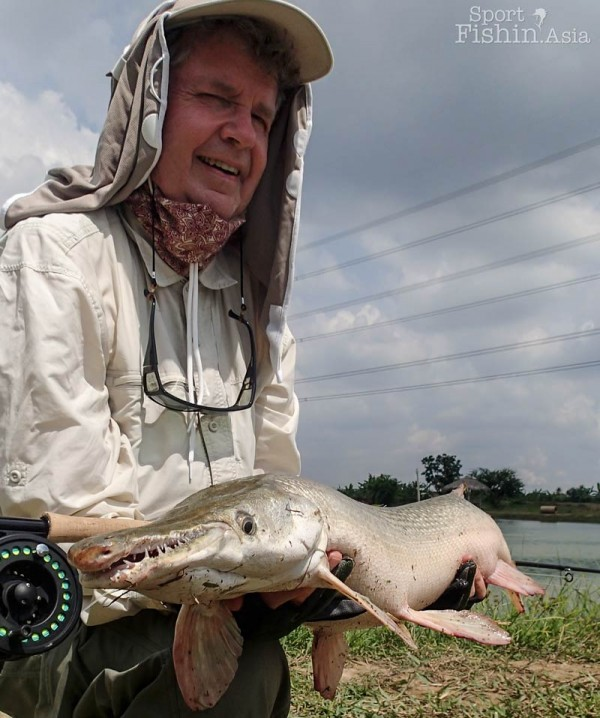 It can be quite difficult to get a good hook-up with the alligator gar