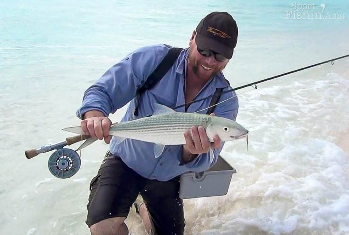 Paul Arden with his first bonefish