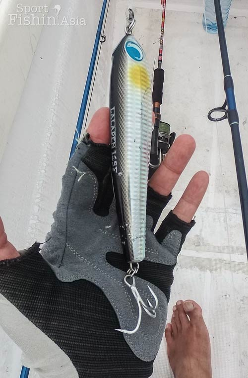 The fish that took this stickbait could not be stopped and eventually even the extra strong hook opened up