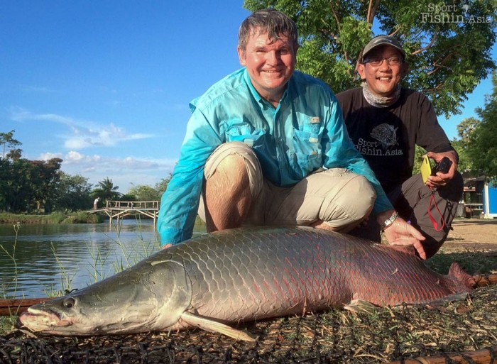 A hefty first arapaima for Bob