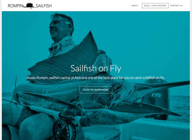 Rompin Sailfish Fly Fishing: Our New Site is Now Live!