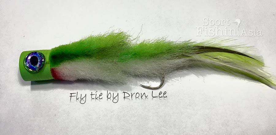 Popper Fly for Sailfish – Popping Minnow by Dron Lee
