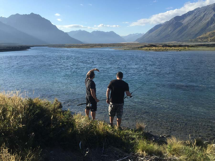 Fishing at Lake Coleridge