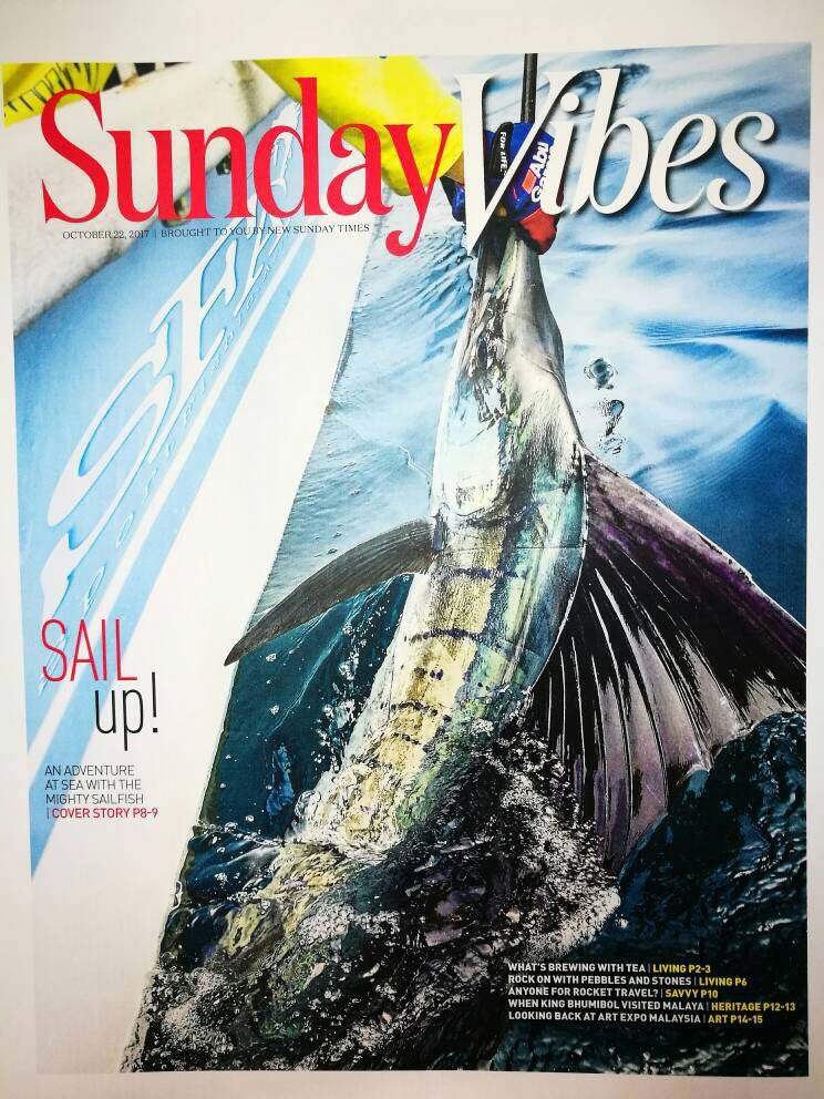 Feature Cover Story In The New Sunday Times Pullout on Sailfish Fishing and Sea Urchin