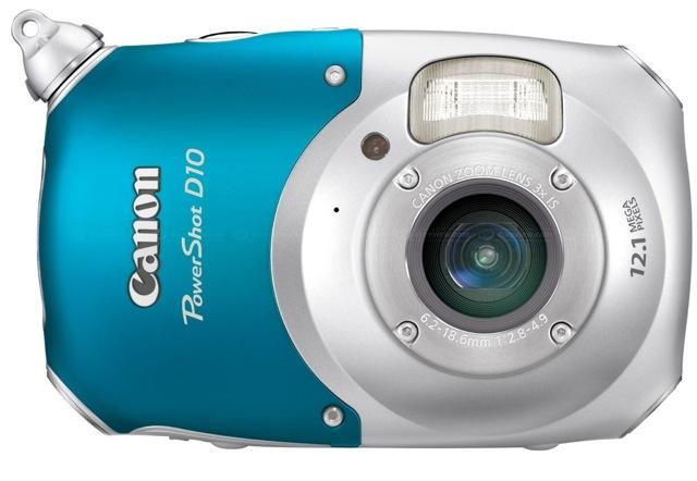 Canon's first digital waterproof camera: PowerShot D10