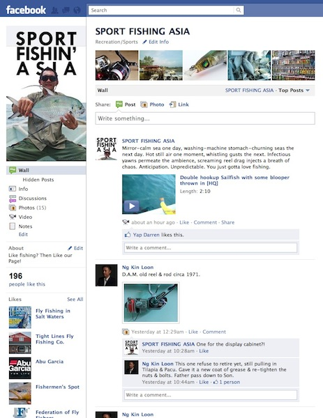 Fishing on Facebook!