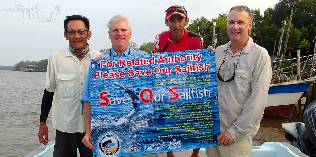 Kuala Rompin sailfish fishing with Greg and Pete [video]