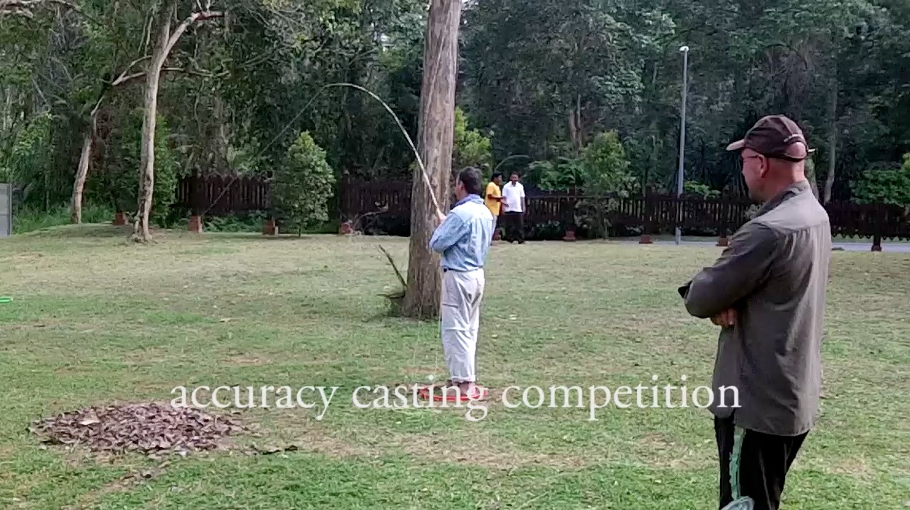 Casting accuracy competition at the International Fly Fishing Festival, KL.