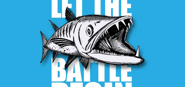 "Let The ""Toothy"" Battle Begin: New PENN T-shirt with Barracuda"