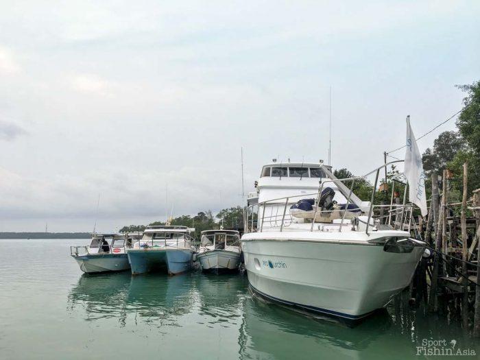 fishing boats in Kuala Rompin jetty