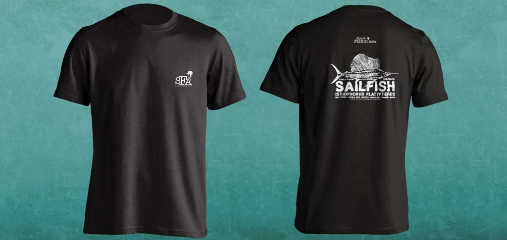 New Indo-Pacific Sailfish Tshirt for Our Guests