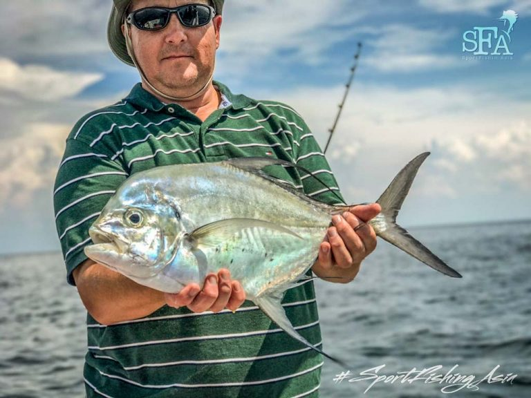 mark banns with longfin trevally