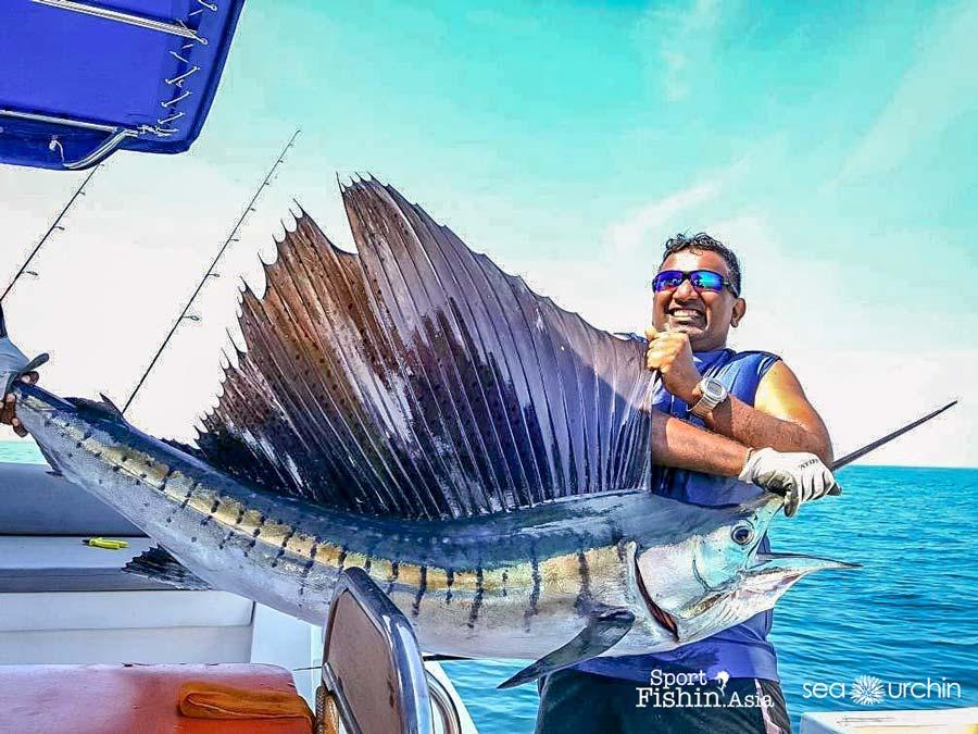 David Gurupatham aboard the Sea Urchin