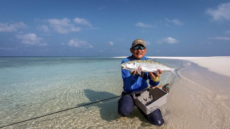 JW with a nice big bonefish that gave him a couple of good runs with the Nautilus X reel