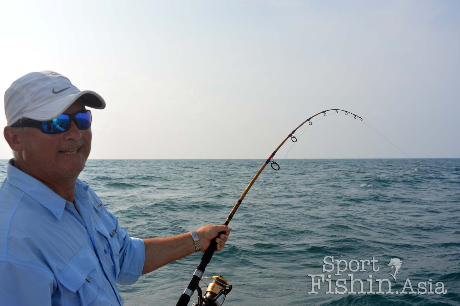 David enjoying the run of his first sailfish