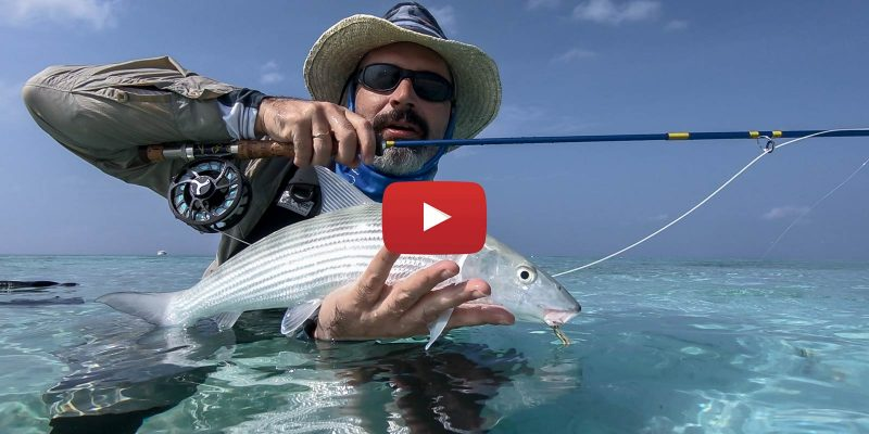 Stefan with a Maldives bonefish youtube video