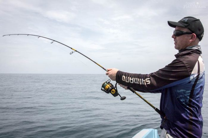 Barry using a PENN Spinfisher reel