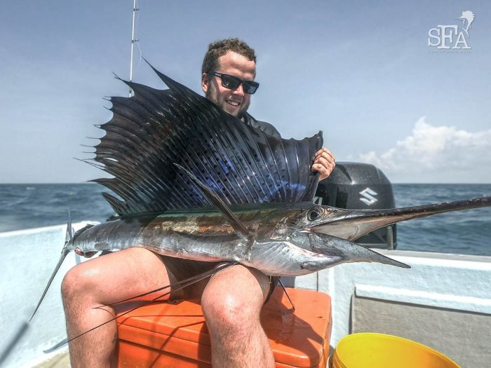 A stunning first sailfish for Ash