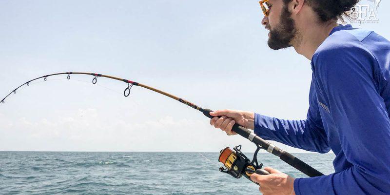 Tor battling his first sailfish