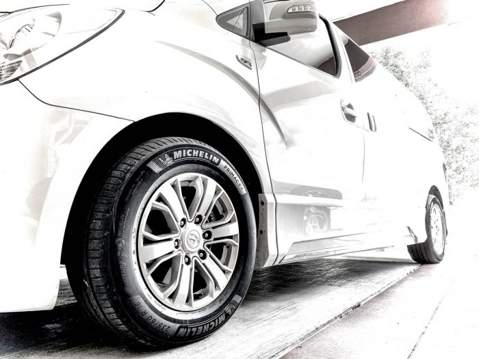 New wider Michelin Primacy 4 tyres on the Starex