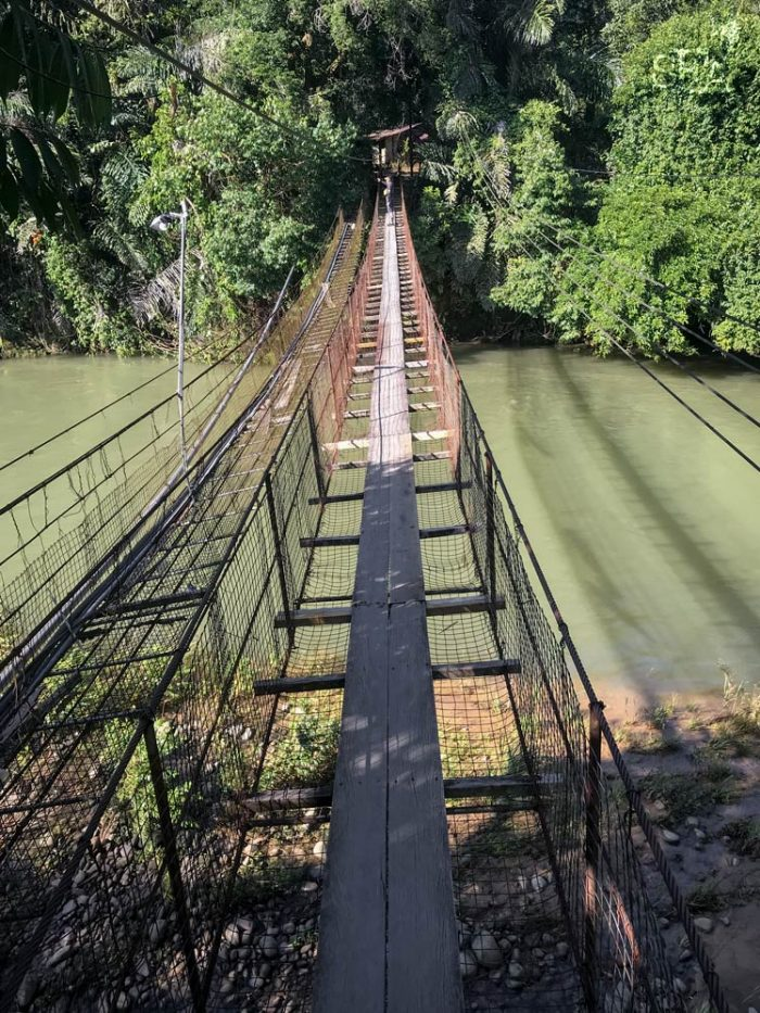 Suspension bridges are a common sight in Sabah