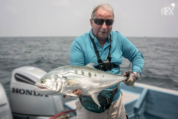 Graham with a queenfish