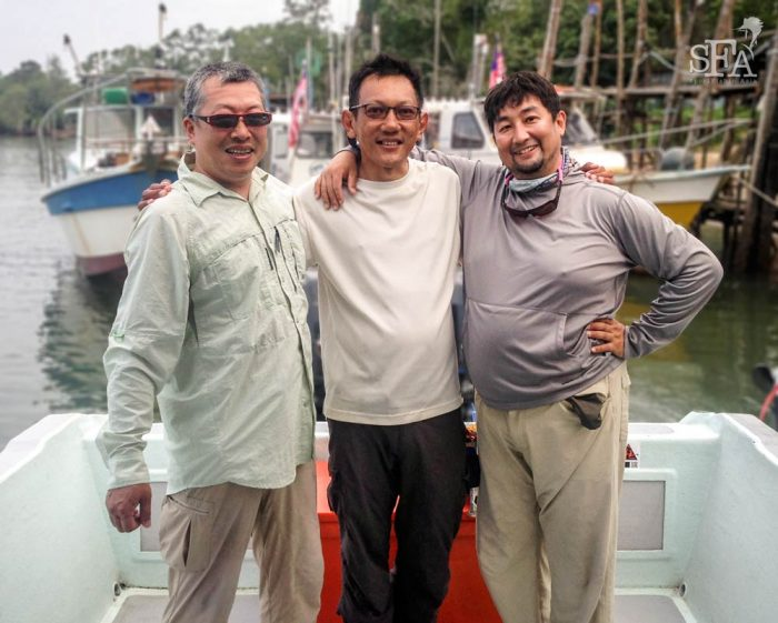 L-R: Konishi San, JW and Mukaida San in Rompin 2014