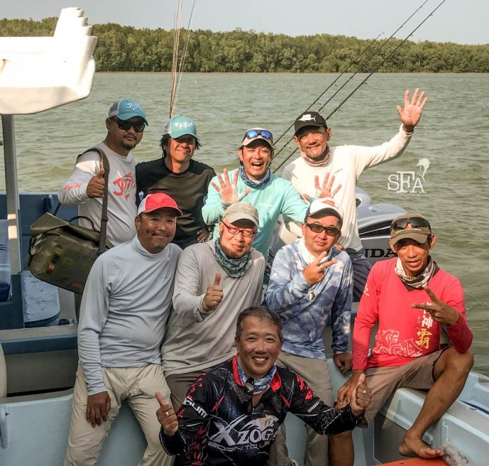 A group photo back in the dock at the end of the four fishing days