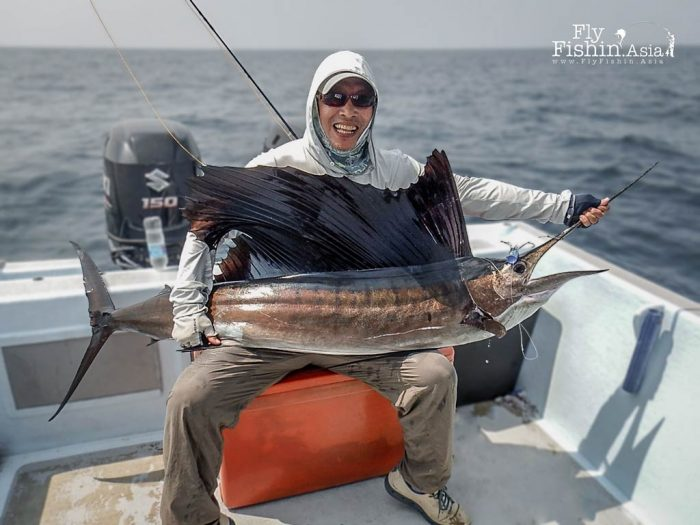 Konishi San lands his second sailfish of the trip on day four