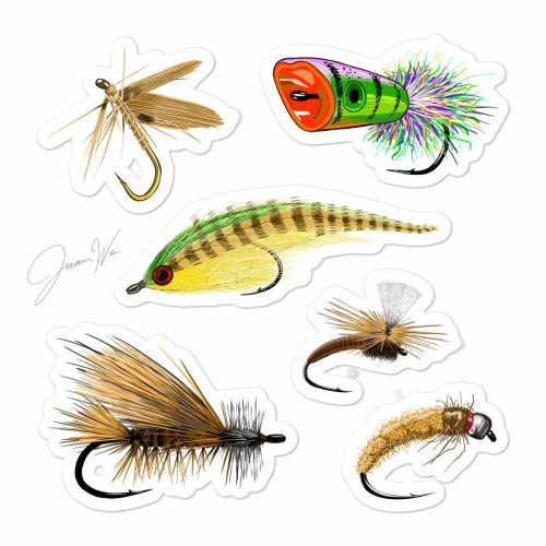 Fly fishing flies stickers