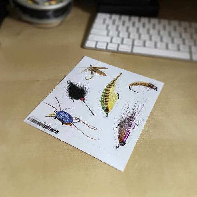 fly fishing fly stickers set