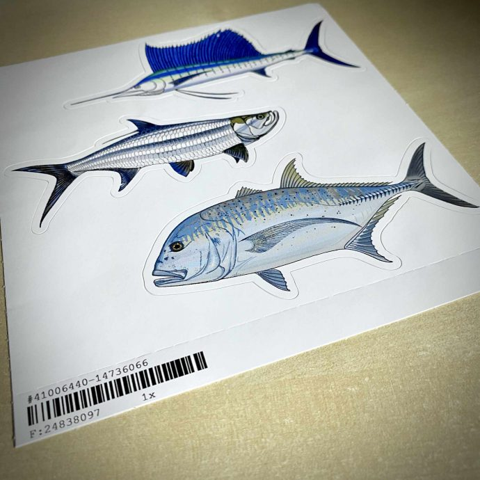 gt giant-trevally tarpon sailfish stickers