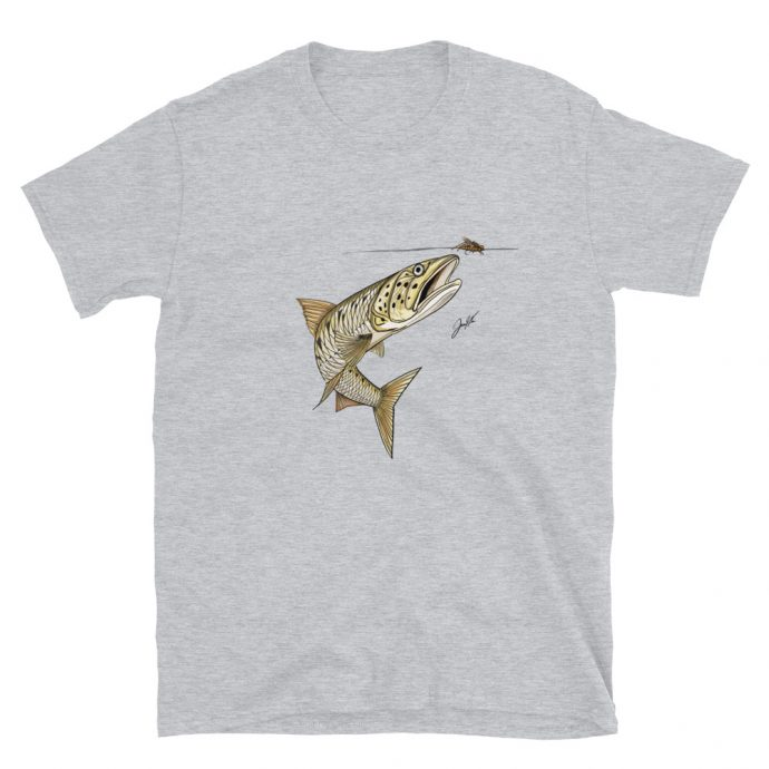 Burmese trout sikang t-shirt sport grey